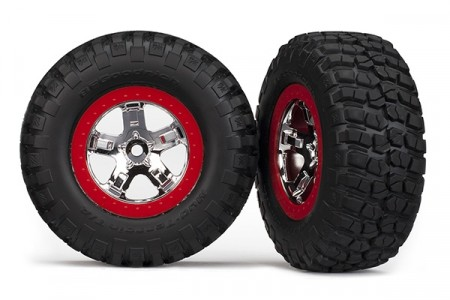 TRX-5867 Tires and Wheels, BFGoodrich/SCT, 4WD/2WD Rear (2pcs)