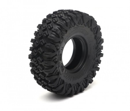 "Boom Racing HUSTLER M/T Xtreme 1.55"" BABY Rock Crawling Tires 3.74x1.3 SNAIL SLIME™ Compound W/ Open Cell Foams (Ul"