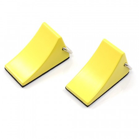 Yeah Racing 1/10 RC Rock Crawler Accessory Reifenstopper 2pcs Yellow For Tractor Truck