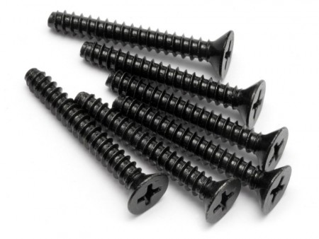HPI TP. Flat Head Screw M4x30mm (6pcs) - Z649