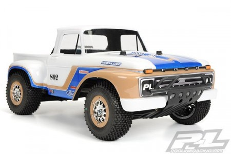 Pro-Line 1966 Ford F-100 Clear Body, for PRO-2 SC, 2WD/4x4 Slash, SC10