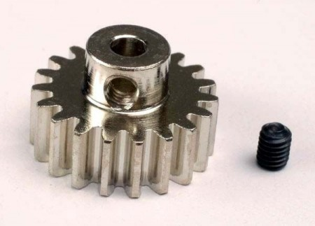 Traxxas Gear, 19-T pinion (32-p) (mach. steel)/ set screw