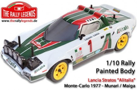 The Rally Legends Body - 1/10 Rally - Scale - Painted - Lancia Stratos Alitalia