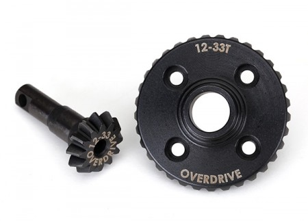 Ring- & differential pinion gear Overdrive 12/33T CNC TRX-4