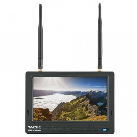 "Tactic FPV-RM1 7"" HD FPV Monitor 5.8GHz Dual Receivers"