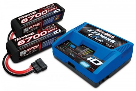 Traxxas Charger iD Live and Battery 14,8V 6700mAh Combo