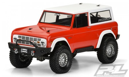 "Pro-Line 1973 Ford Bronco Clear Body,  for 12"" (305mm) Wheelbase Scale Crawlers"