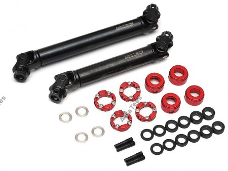 Boom Racing BADASS™ HD Steel Center Drive Shaft Set for Traxxas TRX4 D110 / Sport / Ford Front & Rear (2) [Recon G6