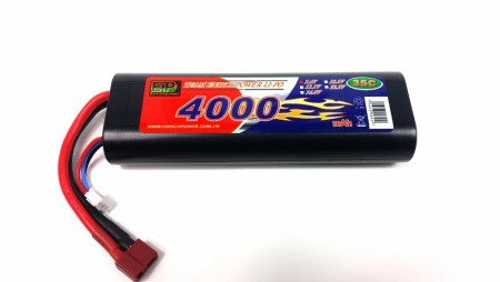 "2S 4000mah LiPo 35C HARD BOX NEW ""THIN DESIGN"""