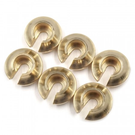 Yeah Racing Brass Spring Retainer V2 6pcs For Traxxas TRX-6