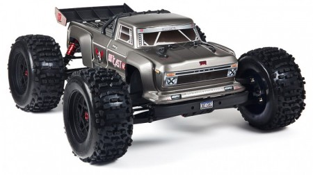 Arrma Outcast 2018 6S 4WD BLX Stunt Truck 1/8 Silver RTR