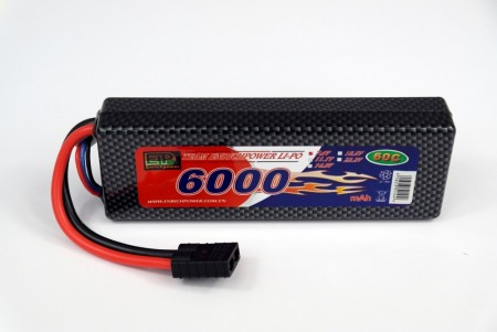2S 6000mah LiPo 60C HARD BOX Traxxas connector