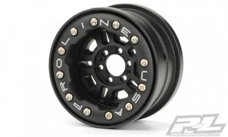 "FaultLine 2.2"" Black wheels for crawlers (2)"